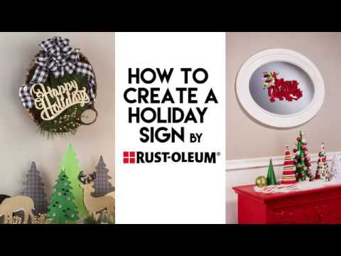 DIY Holiday Sign With Rust-Oleum® Metallic & Glitter Spray Paint
