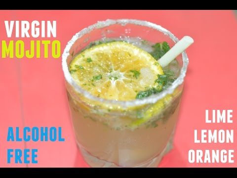 Mocktail-Virgin Mojito | lime orange combination margarita|