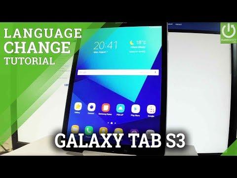 Change Language SAMSUNG Galaxy Tab S3 - Set Up Language