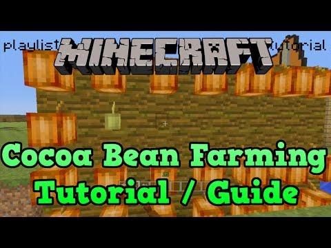 Minecraft PS3 + PS4: Cocoa Bean Farm Tutorial (Farming Tutorial 7/10)