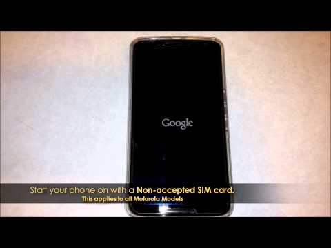 How to Unlock Motorola Phone by Unlock Code - Unlocking a Motorola Phone Network Pin No Rooting!
