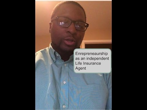 Entrepreneurship as an independent life insurance agent