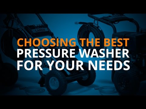 Choosing the Best Pressure Washer for Your Needs