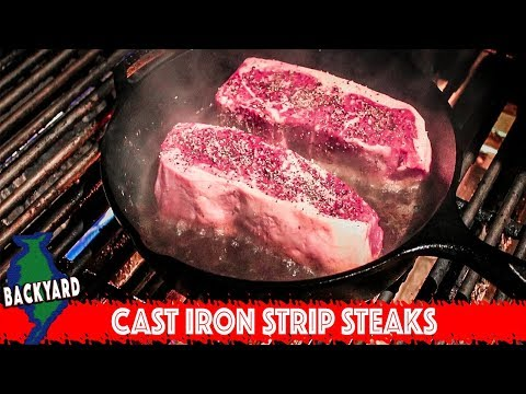 How to Cook New York Strip Steak in a Cast Iron Pan