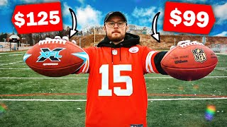$125 XFL Football vs $99 NFL Football - This might Surprise you...