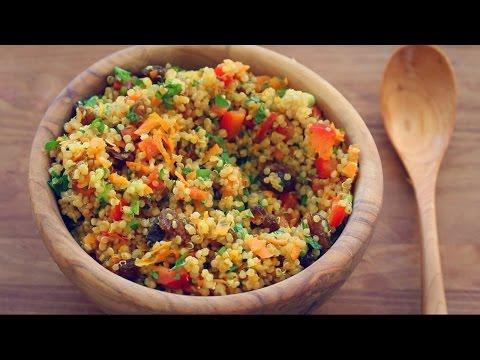 BEST QUINOA SALAD RECIPE EVER!  (Colourful mint + turmeric salad)