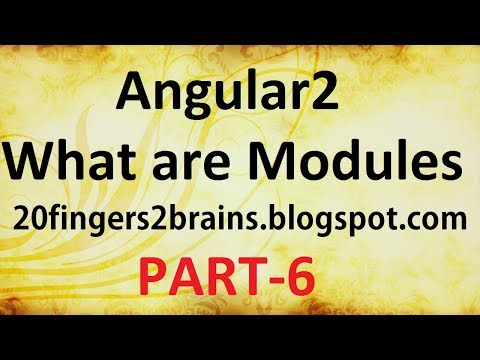 Angular 2 - What are Modules