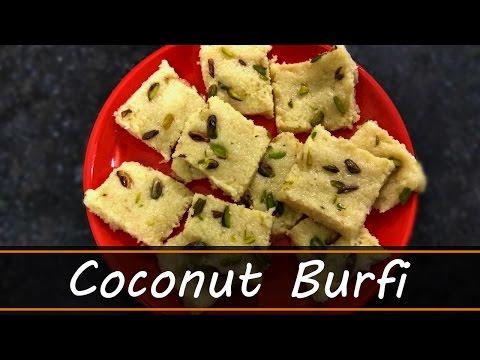 Coconut Burfi using Milk Maid | Nariyal Barfi Recipe | Burfi Recipe in Hindi