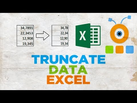 How to Truncate Data in Excel