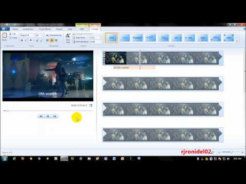 How To Put Lyrics in a Music Video on Windows Live Movie Maker