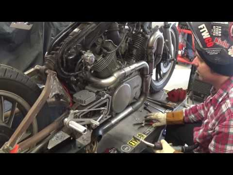 Custom exhaust build - Yamaha XV-TR1 Part 3
