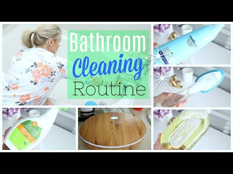MY BATHROOM CLEANING ROUTINE USING NATURAL PRODUCTS| HOW TO MAKE YOUR BATHROOM SMELL AMAZING
