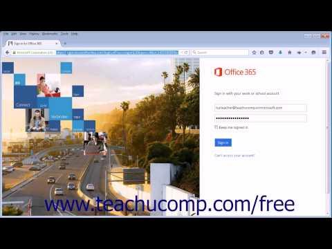 Outlook Web App Tutorial Starting the Outlook Web App 2015 Microsoft Training