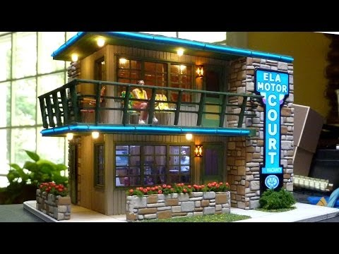 An O Scale Mid-Century Motel Scratch Build Part 4 - Lighting, Stonework, Completing Assembly
