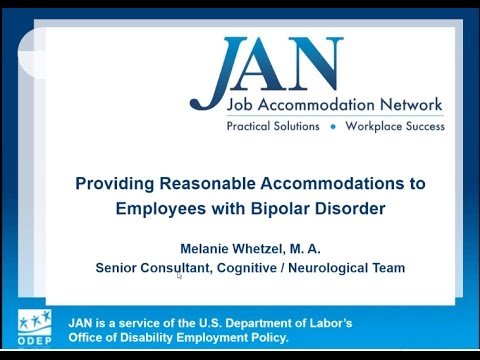 Providing Reasonable Accommodations to Employees with Bipolar Disorder
