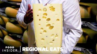How Swiss Emmentaler Cheese Is Made   Regional Eats