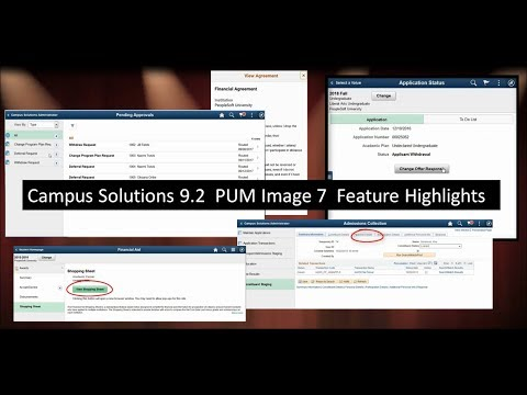 Campus Solutions 9.2 PUM Image 7 Feature Highlights