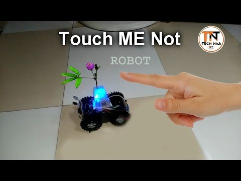 diy IR SENSOR touch_me_not ROBOT || Moves when you try to touch || No microcontroller