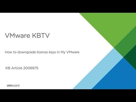 How to downgrade license keys in My VMware
