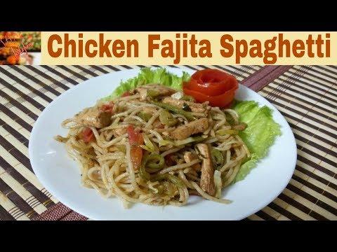 Chicken Fajita Spaghetti Recipe(In Urdu/Hindi)How To Make Italian Flavor Chicken Fajita Spaghetti