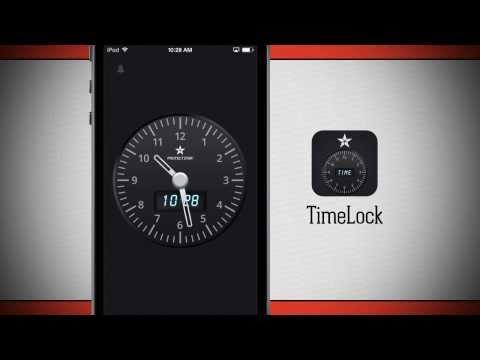 TimeLock - Photo & Video vault hidden in a clock - iPhone App Demo
