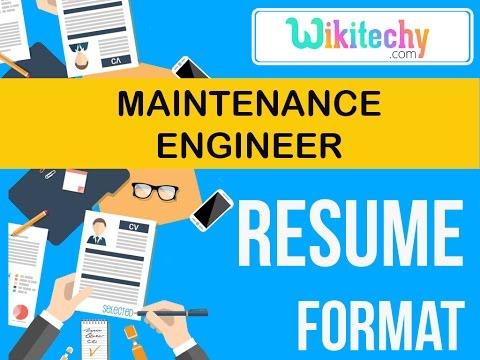 resume | maintenance engineer resume | sample resume | resume templates | c v template