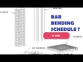 02-CIVIL ENGINEERING BAR BENDING SCHEDULE BASICS--REINFORCEMENT CALCULATION ? ((HINDI)