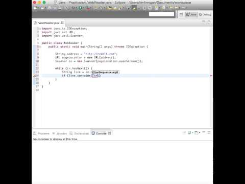 Reading Web Pages and Scraping Links (Java)