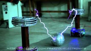 Ghostbusters Theme on Musical Tesla Coils