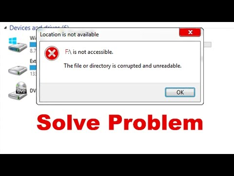 [Fix problem] The file or directory is corrupted and unreadable on USB drive or Hard drive