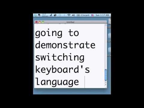 Switching Keyboard's Language On Mac OS X 10.6
