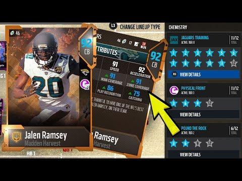 We Got Jalen Ramsey to 91 Zone!!! | Best Team Training Chemistry?? | Madden 18 Ultimate Team
