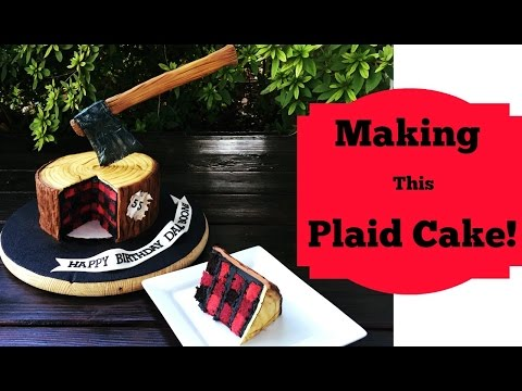 How To Make A Plaid Cake!