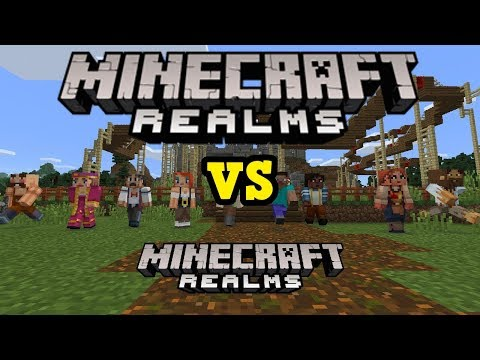 Minecraft Realms vs Minecraft Realms (HUGE DIFFERENCE FROM PE)