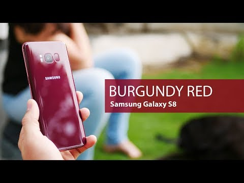 Unboxing BURGUNDY RED Samsung Galaxy S8