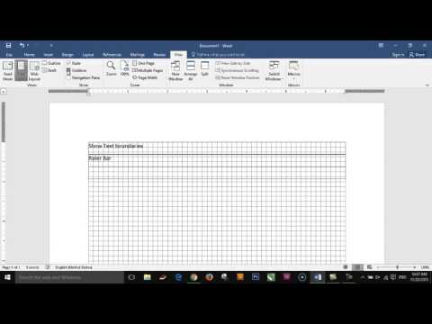 Microsoft office| How to show or hide text boundaries and ruler in Microsoft word 2016.
