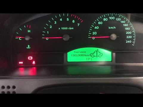 How to reset the service reminder on Holden Commodore VY VZ