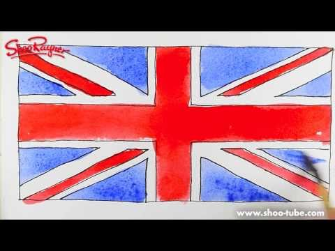 How to draw the British Flag  - Spoken Tutorial