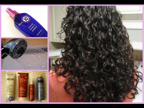 Curly Hair Routine!~Wet to Dry~