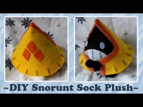 ❤ DIY Snorunt Sock Plush! How To Make A Cute Pokemon Plushie! ❤