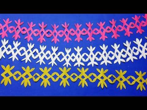 paper cutting border designs@How to Easy paper cutting designs step by step-Paper decoration to make