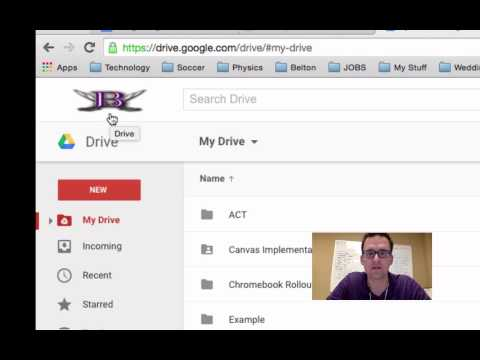 Signing into Google Drive