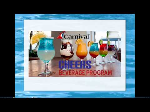 Alcohol Drink Package On Board Carnival Cruise CHEERS | 2017