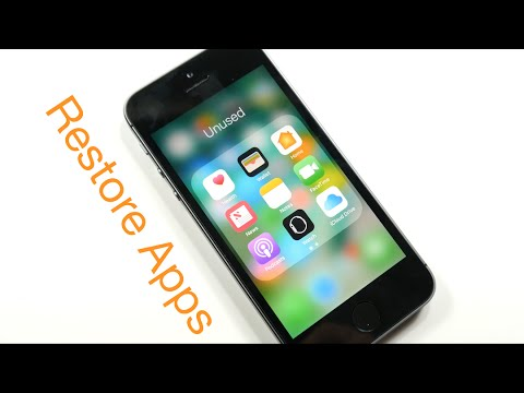 Restore Deleted Default Apps iOS 10