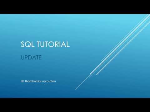 SQL Tutorial - UPDATE