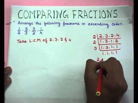 Fraction, decimal & percentage Comparing fractions.avi