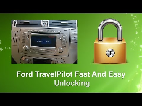 How To  Find Ford Travel Pilot Radio Code/Serial  Focus/Fiesta/Mondeo/Transit