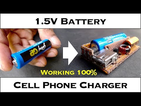 AAA (1.5V) Single Battery Cell Phone Charger