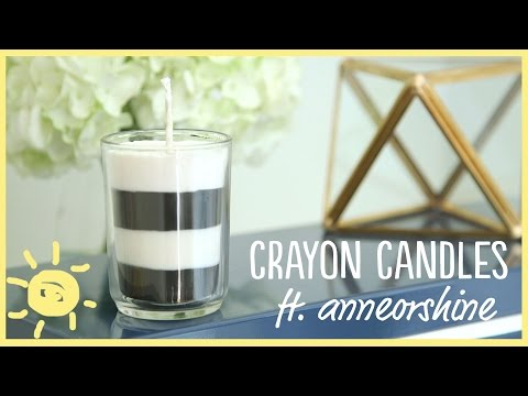 DIY | How to Make Your Own Candles (with Crayons!!) Ft. Anneorshine