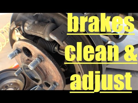 Toyota Camry Rear Brake Shoes Clean and Adjust √